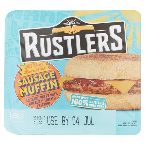 Picture of Rustlers All Day Breakfast Sausage Muffin 155g