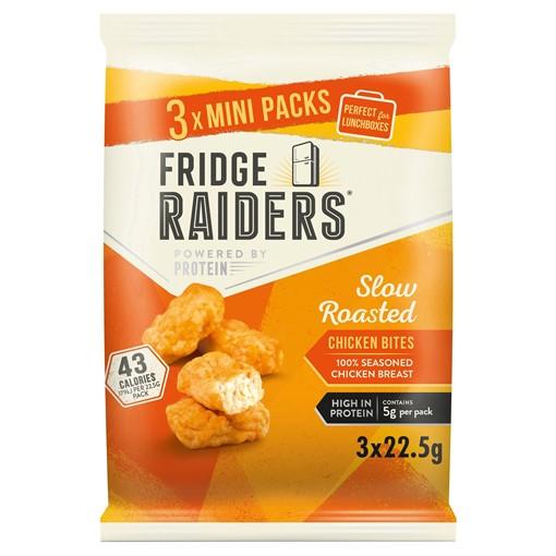 Picture of Fridge Raiders Slow Roasted Chicken Bites Mini Packs 3 x 22.5g