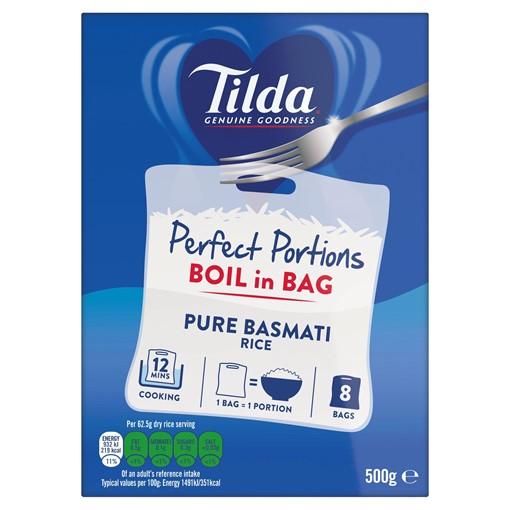 Picture of Tilda Boil in Bag Pure Basmati Rice 62.5g x 8