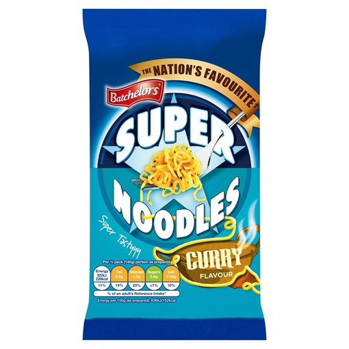 Picture of Batchelors Super Noodles Curry Flavour 100g