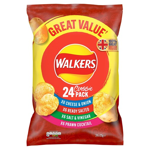 Picture of Walkers Classic Variety Crisps 24x25g
