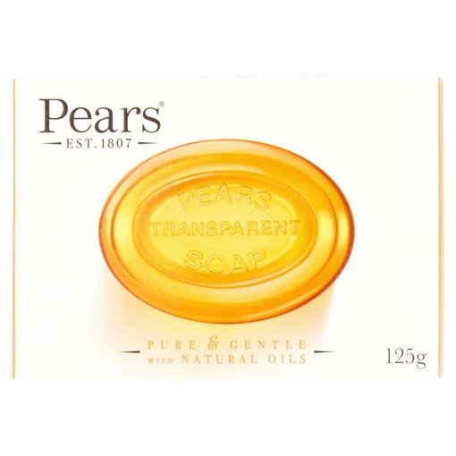 Picture of Pears Transparent Soap Bar with Natural Oils 125g