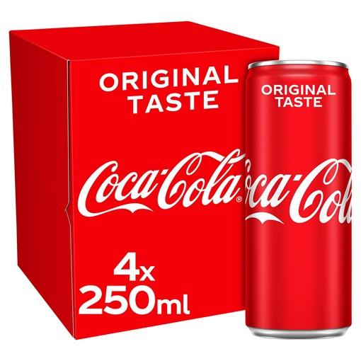 Picture of Coca-Cola Original Taste 4 x 250ml