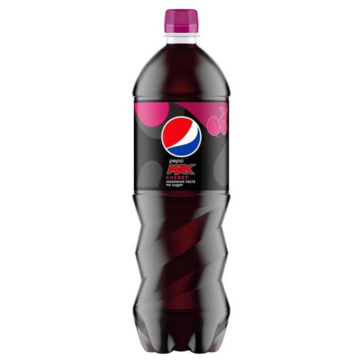 Picture of Pepsi Max Cherry No Sugar Cola Bottle 1.25L