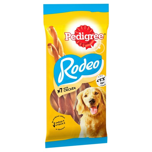 Picture of Pedigree Rodeo Adult Dog Treats with Chicken 7 Sticks 123g