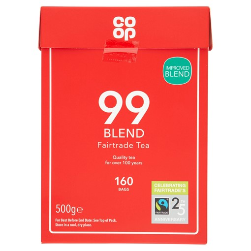 Picture of Co Op Fairtrade 99 Tea Blend 160 Round Bags 500g
