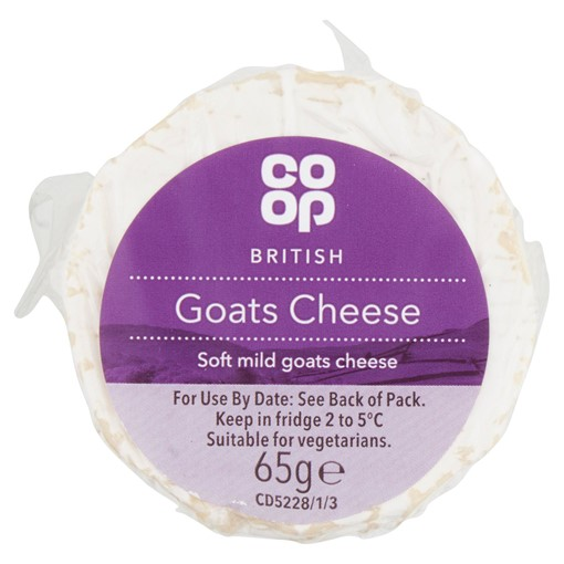 Picture of Co Op British Goats Cheese 65g
