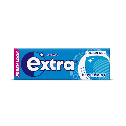 Picture of Extra Peppermint Chewing Gum Sugar Free 10 Pieces