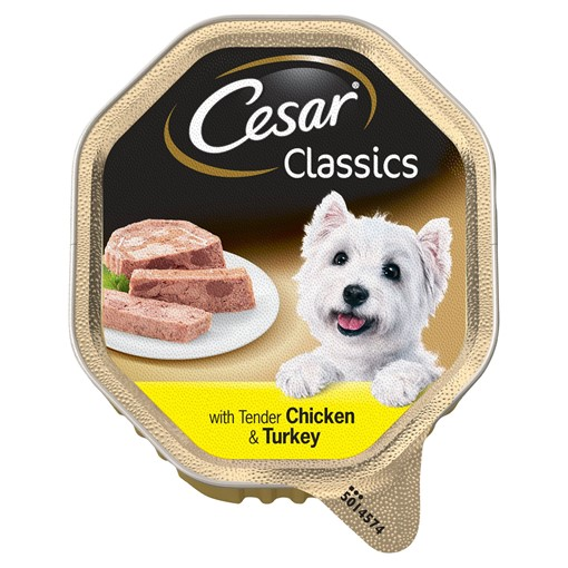 Picture of Cesar Classic Terrine Dog Food Tray Chicken & Turkey in Loaf 150g