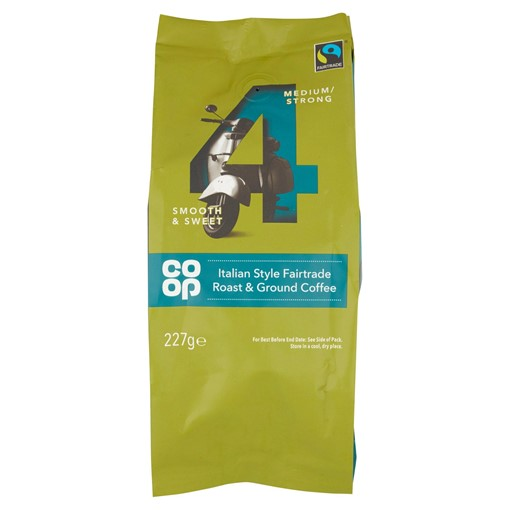 Picture of Co Op Italian Style Fairtrade Roast & Ground Coffee 227g