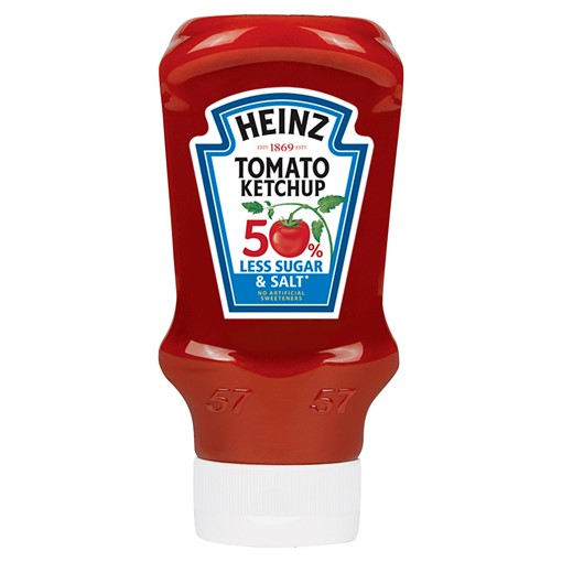 Picture of Heinz 50% Less Sugar & Salt Tomato Ketchup 435g
