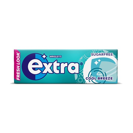 Picture of Extra Cool Breeze Chewing Gum Sugar Free 10 pieces