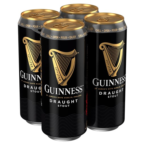 Picture of Guinness Draught Stout Beer 4 x 440ml Can