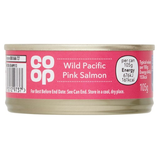 Picture of Co-op Wild Pacific Pink Salmon 105g