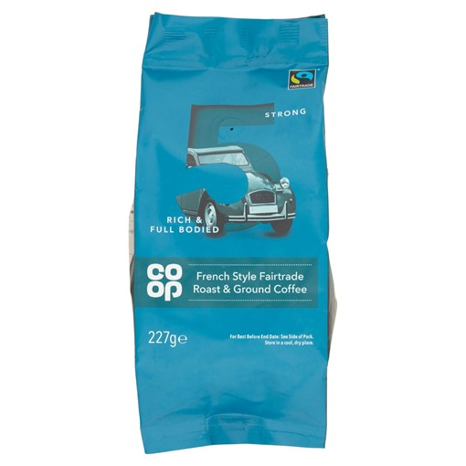 Picture of Co Op French Style Fairtrade Roast & Ground Coffee 227g