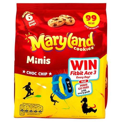 Picture of Maryland Minis Choc Chip Cookies 6 Mini Bags 118.8g