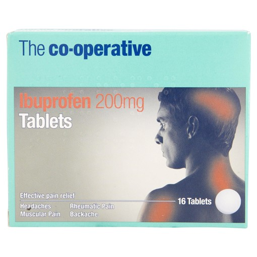 Picture of The Co-operative Ibuprofen 200mg Tablets 16 Tablets