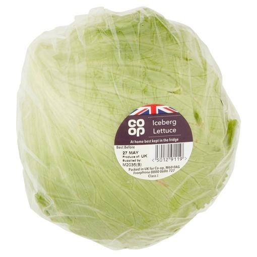 Picture of Co-op Iceberg Lettuce # EACH