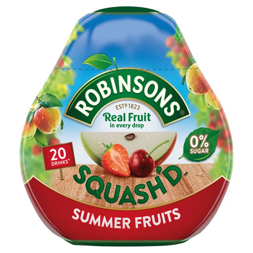 Picture of Robinsons Squash'd Summer Fruits On-The-Go Squash 66ml