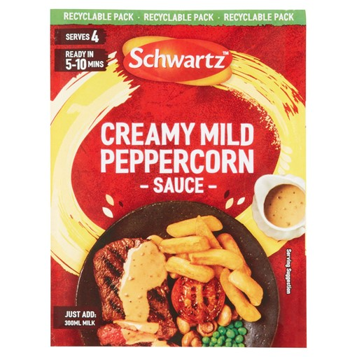 Picture of Schwartz Creamy Mild Peppercorn Sauce Mix 25g