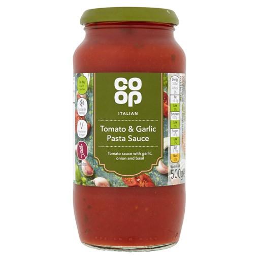 Picture of Co Op Italian Tomato & Garlic Pasta Sauce 500g