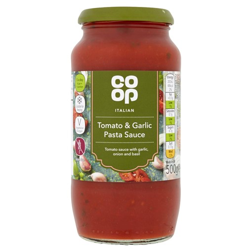 Picture of Co-op Italian Tomato and Garlic Pasta Sauce 500g