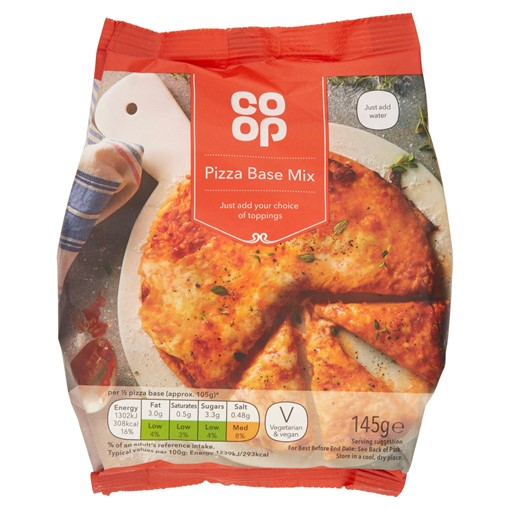 Picture of Co Op Pizza Base Mix 145g