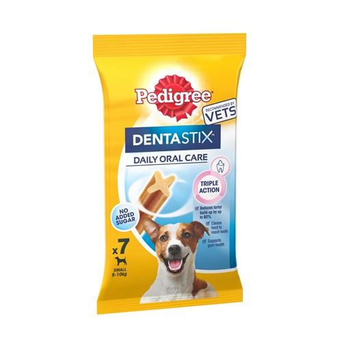 Picture of Pedigree Dentastix Daily Adult 1+ Small Dental Dog Chews 7 Sticks 110g