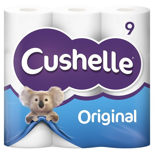 Picture of Cushelle White 9 Toilet Rolls