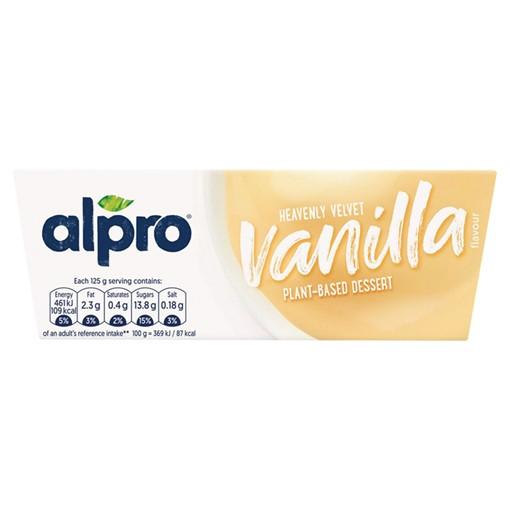 Picture of Alpro Velvet Vanilla Dessert U.H.T. 4 x 125g (500g)