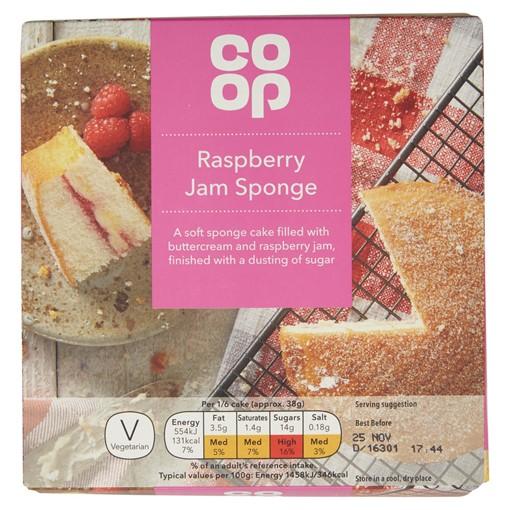 Picture of Co Op Raspberry Jam Sponge