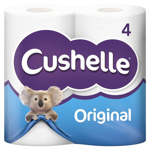 Picture of Cushelle White 4 Toilet Rolls