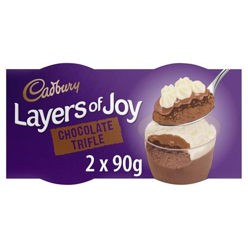 Picture of Cadbury Layers of Joy Chocolate Trifle Desserts 2 x 90g