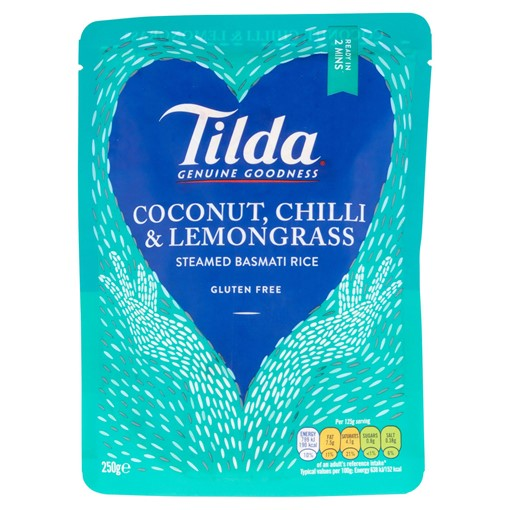 Picture of Tilda Microwave Coconut Chilli and Lemongrass Basmati Rice 250g