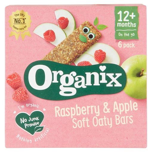 Picture of Organix Raspberry & Apple Soft Oaty Bars 12+ Months 6 x 30g (180g)
