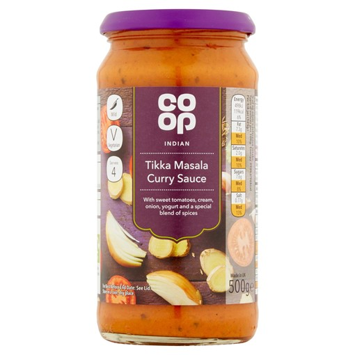 Picture of Co-op Tikka Masala Curry Sauce 500g