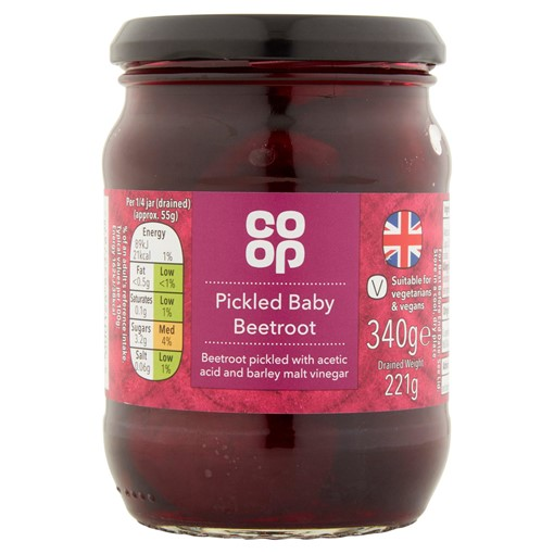 Picture of Co Op Pickled Baby Beetroot 340g