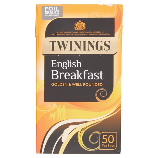 Picture of Twinings English Breakfast 50 Tea Bags 125g