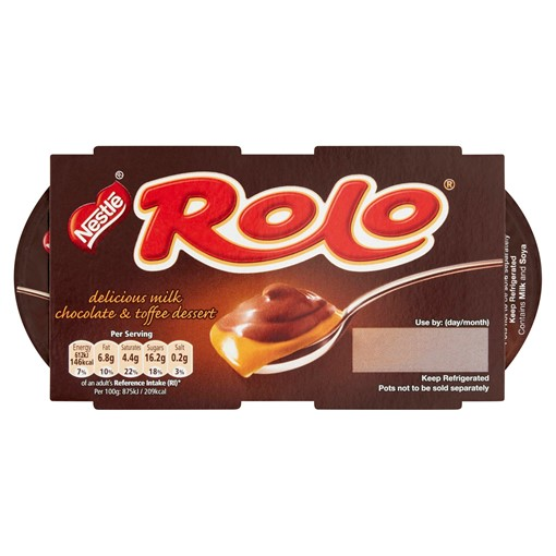 Picture of Rolo Delicious Milk Chocolate & Toffee Dessert 2 x 70g (140g)