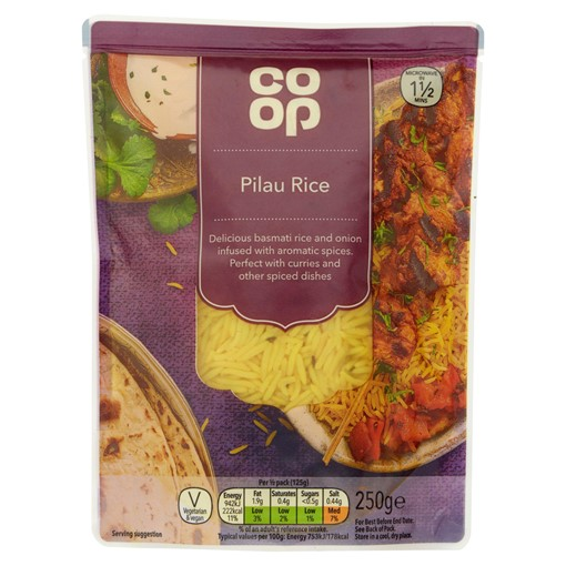 Picture of Co Op Pilau Rice 250g