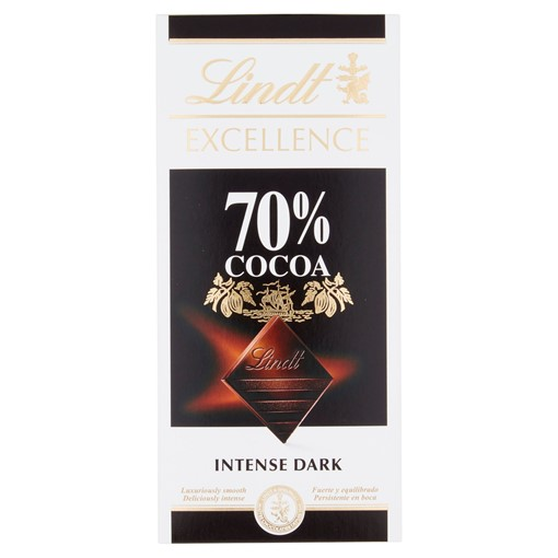 Picture of Lindt Excellence Dark 70% Cocoa Chocolate Bar 100g