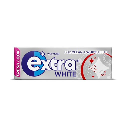 Picture of Extra White Chewing Gum Sugar Free 10 Pieces