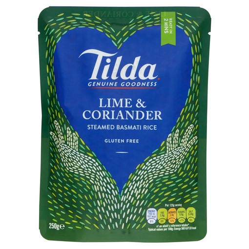 Picture of Tilda Microwave Lime and Coriander Basmati Rice 250g