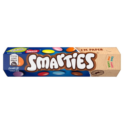 Picture of Smarties Milk Chocolate Sweets Tube 38g