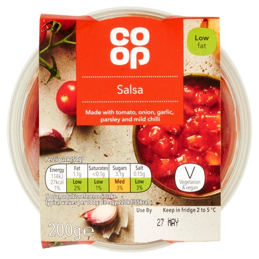 Picture of Co Op Salsa Dip 200g