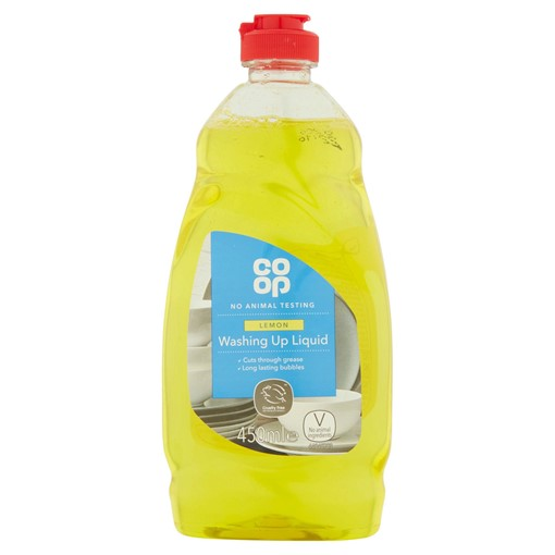 Picture of Co-op Lemon Washing Up Liquid 450ml