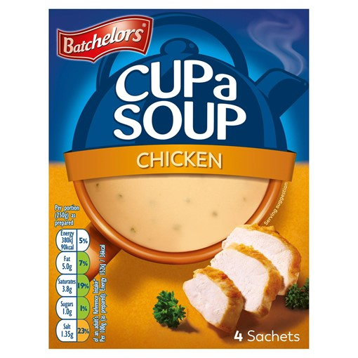 Picture of Batchelors Cup a Soup Chicken 4 Sachets 81g