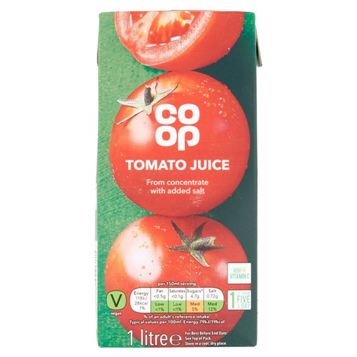 Picture of Co-op Tomato Juice 1 Litre