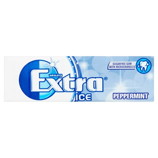 Picture of Extra Ice Peppermint Chewing Gum Sugar Free 10 Pieces