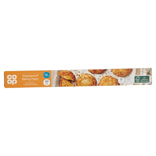 Picture of Co Op 12m Greaseproof Baking Paper 380mm Wide